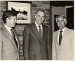 President Daniel Marvin with Max Coffey by University Archives