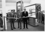 President Stanley G. Rives and Jim Edgar at Tarble Exhibit Ribbon Cutting by University Archives
