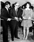 President Gilbert C. Fite at a Ribbon Cutting Ceremony by University Archives