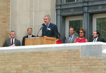 Rededication Ceremony by Booth Library