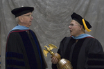 Dr. William C. Hine, Dean of School of Continuing Education, Dr. Pat J. Fewell, Commencement marshal
