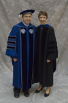 Mr. Eric P. Wilber, Student Board of Trustee, Dr. Jill F. Nilsen, Commencement marshal