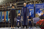 Dr. Jill F. Nilsen, Commencement marshal, Dr. Blair M. Lord, Provost and Vice President for Academic Affairs