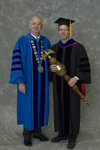 Dr. William L. Perry, President, Dr. Scott J. Meiners, Commencement marshal