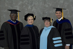 Dr. Godson C. Obia, Commencement marshal, Dr. Mary Anne Hanner, Dean of the College of Sciences, Dr. Andrew Mertz, Faculty marshal, Dr. Joan Henn, Faculty marshal by Beverly J. Cruse