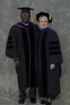 Dr. Godson C. Obia, Commencement marshal, Dr. Mary Anne Hanner, Dean of the College of Sciences