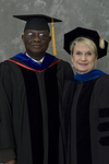 Dr. Godson C. Obia, Commencement marshal, Dr. Mary Anne Hanner, Dean of the College of Sciences by Beverly J. Cruse