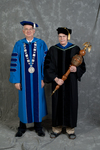 Dr. William L. Perry, President, Dr. Andrew D. McNitt, Commencement marshal