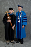 Dr. Andrew D. McNitt, Commencement marshal, Dr. William L. Perry, President