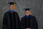 Dr. Newton E. Key, Faculty marshal, Dr. Charles W. Titus, Faculty marshal