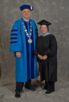 Dr. William L. Perry, President, Dr. Reed Benedict, Commencement marshal