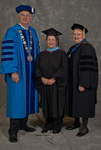 Dr. William L. Perry, President, Ms. Donna K. Martin, Charge to the class, Dr. Diane H. Jackman, Dean, College of Education & Professional Studies