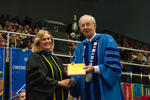 Dr. Kathlene S. Shank, Luis Clay Mendez Distinguished Service Award, Dr. William L. Perry, President