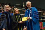 Dr. Blair M. Lord, Provost and Vice President for Academic Affairs, Dr. Kathlene S. Shank, Luis Clay Mendez Distinguished Service Award, Dr. William L. Perry, President by Beverly J. Cruse