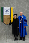 Dr. Karen S. Drage, Faculty Marshal, Dr. William L. Perry, President