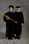 Dr. Carrie M. Dale, Commencement Marshal, Dr. William C. Hine, Dean of the School of Continuing Education
