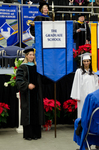 Dr. Christina R. Edmonds-Behrend, Faculty Marshal, Ms. Lena F. Elmuti, Honors College Banner Marshal