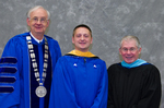 Dr. William Perry, University President, Mr. David Closson, Student Speaker, Mr. Ken Baker, Student Speaker Mentor