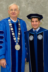 Dr. William Perry, University President, Mr. Mitchell Gurick, Board of Trustees Member