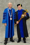 Dr. William Perry, University President, Dr. Andrew Robinson, Commencement Marshal