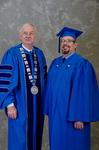 Dr. William L. Perry, University President,  Mrs. Audrey Bachelder,  Student Speaker Mentor