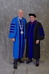 Dr. William L. Perry, University President,  Dr. Nick Osborne, Faculty Marshal