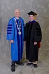 Dr. William L. Perry, University President,  Dr. Peter Wiles, Faculty Marshal