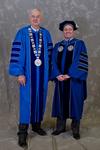 Dr. William L. Perry, University President, Mr. Kristopher Goetz, member of EIU Board of Trustees