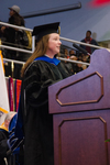 Dr. Kathleen O'Rourke, Mentor to Mr. Charles LeGrand, Student Commencement Speaker