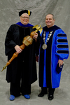 Dr. Lisa M. Moyer, Commencement Marshal, Dr. David M Glassman, University President