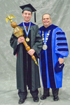 Dr.Jeffrey R. Stowell, Commencement Marshal , Dr. David M. Glassman, University President by Beverly J. Cruse