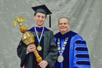 Dr.Jeffrey R. Stowell, Commencement Marshal , Dr. David M. Glassman, University President