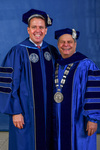 Board of Trustees member Mr. Joseph Dively, President David Glassman by Beverly J. Cruse