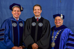 Board of Trustees member Mr. Joseph Dively, Dr. Matthew Kirchner, President David Glassman by Beverly J. Cruse