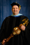 Dr. Cliff Karnes, Commencement marshal by Beverly Cruse