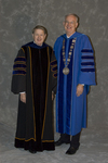 Dr. H. Ray Hoops, Honorary degree recipient, charge to the class, Dr. William L. Perry, President