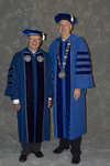 Dr. Robert D. Webb, Board of Trustee, Dr. William L. Perry, President
