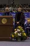 Dr. Blair M. Lord, Provost and Vice President for Academic Affairs, Dr. H. Ray Hoops, Honorary degree recipient, charge to the class