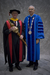 Dr. Scott A.G.M. Crawford, Commencement Marshal, Dr. William L. Perry, President