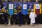 Dr. Julie T. Dietz, Faculty Marshal, Dr. Heidi A. Larson, Faculty Marshal, Ms. Michelle E. Moery, Honors College Banner Marshall