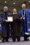 """Dr. Blair M. Lord, Provost and Vice President for Academic Affairs, Mr. F.E. """"Joe"""" Glassford, Honorary degree recipient, Dr. William L. Perry, President by Beverly J. Cruse"""