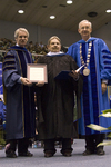 "Dr. Blair M. Lord, Provost and Vice President for Academic Affairs,  Mr. F.E. ""Joe"" Glassford, Honorary degree recipient, Dr. William L. Perry, President"