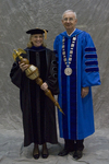 Dr. Deborah A. Woodley, Commencement Marshal, Dr. William L. Perry, President