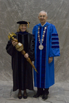 Dr. Deborah A. Woodley, Commencement Marshal, Dr. William L. Perry, President by Beverly J. Cruse