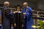 Dr. Blair M. Lord, Provost and Vice President for Academic Affairs, Dr. Janet M. Treichel, Honorary degree recipient, charge to the class, Dr. William L. Perry, President by Beverly J. Cruse