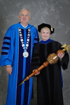 Dr. William L. Perry, President, Dr. Mary Anne Hanner, Commencement marshal