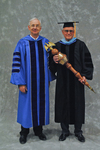 Dr. William L. Perry, President, Mr. Richard K. Crome, Commencement marshal