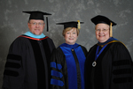 Dr. John Dively, Dr. Beverly Findley, Commencement marshal, Dr. Diane H. Jackman, Dean of College of Education and Professional Studies