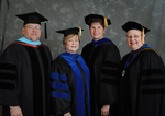 Dr. John Dively, Dr. Beverly Findley, Commencement marshal, Dr. Linda Marrs-Morford, Dr. Diane H. Jackman, Dean of College of Education and Professional Studies
