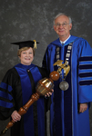 Dr. Beverly Findley, Commencement marshal, Dr. William L. Perry, President